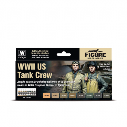 Vallejo Model Colour WWII U.S. Tank Crew Paint Set